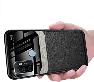 OPPO A53 Case, Ikwcase Business Slim Litchi Skin Anti-slip TPU Bumper Hybrid Glass Lens Protective Case Cover for OPPO A53...