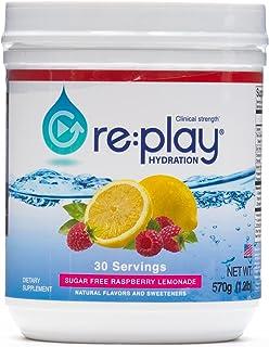 Sponsored Ad - Re:Play Hydration Recovery Drink Powder, Sugar Free Raspberry Lemonade - 570g tub, 30 Servings