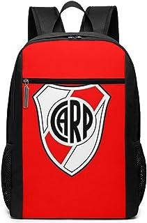 Mochila Lsjuee Club Atlético River Plate Unisex Mochila Diaria Escolar Mochila Ligera de Viaje Informal para Acampar al Aire Libre