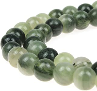 JARTC Natural Stone Beads Mixed Jasper Round Loose Beads for Jewelry Making DIY Bracelet Necklace (10mm)