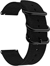 LDFAS Woven Nylon Bands, 20mm Quick Release Watch Strap Compatible for Garmin Venu Sq, Vivoactive 3 Music, Forerunner 645/...