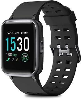 HOMVILLA Pulsera Actividad, Fitness Tracker, Reloj Inteligente Impermeable IP68 con Pulsómetro Monitor de sueño Pulsera Deportiva Cronómetro para Mujer Hombre Niños Compatible con iOS y Android