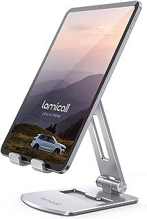 """Lamicall Soporte Tablet, Multiángulo Soporte Tablet - Plegable Soporte Ajustable para 4.7""""~13"""" Tablets para 2020 iPad Pro ..."""