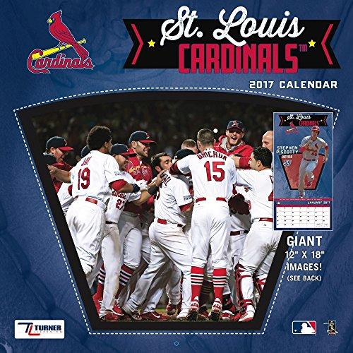 """Turner Licensing Sport 2017 St Louis Cardinals Team Wall Calendar, 12""""X12"""" (17998011864)"""