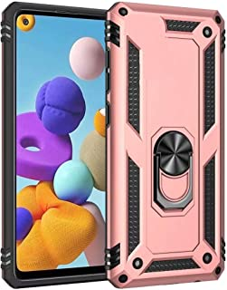 Minwu Case for Samsung Galaxy M01 Core, with Ring Holder Kickstand, Full Body Protective Silicone TPU Gel Personalised Sho...