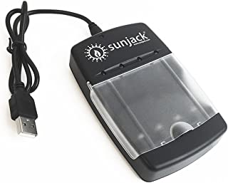 SunJack USB Battery Charger for Rechargeable AA/AAA Size Ni-Mh/Ni-Cd/Alkaline/LiFePO4 Batteries