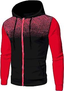 Sudadera con capucha para hombre, para otoño, invierno, ocio, deporte, cálida, de manga larga, con capucha, polka Dot