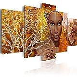murando Cuadro Acústico Africa Mujer 200x100 cm XXL Impresión Artística 5 Piezas Lienzo de Tejido no Tejido Estampado Decoración de Pared Aislamiento Absorción de Sonidos h-C-0013-b-m