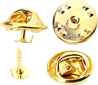 BAOBLADE 50 Pack Gold Bronze White K Fashion Butterfly Clutch Tie Tacks Pin Back Replacement with Blank Pins for Craft Making, Badge Insignia, Citation Bars, Service Bars, Toy Pins Jewelry Making DIY Brooches
