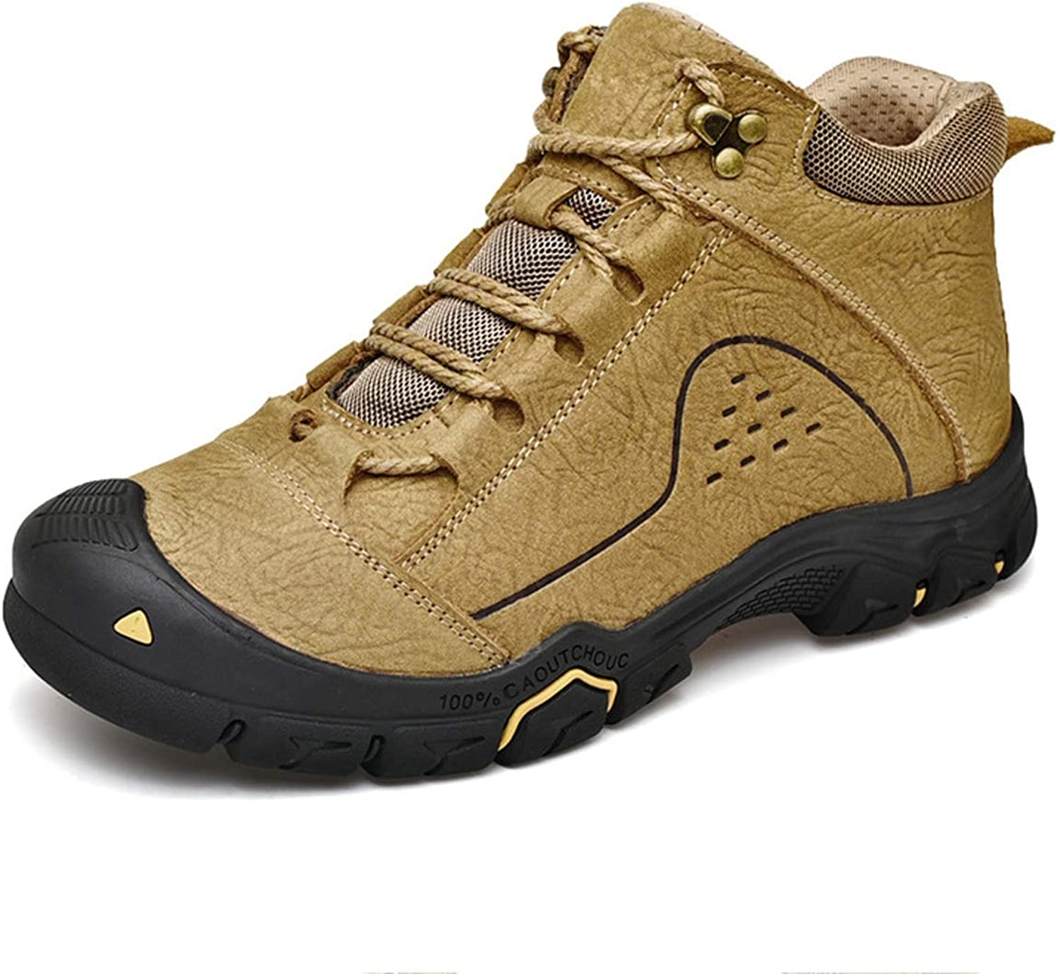 Adong Mens Hiking shoes Jungle Trekking shoes Waterproof shoes Outdoor shoes Non Slip Breathable Outdoor shoes Extra Cushioning Features Rubber Sole All Season,A,40EU