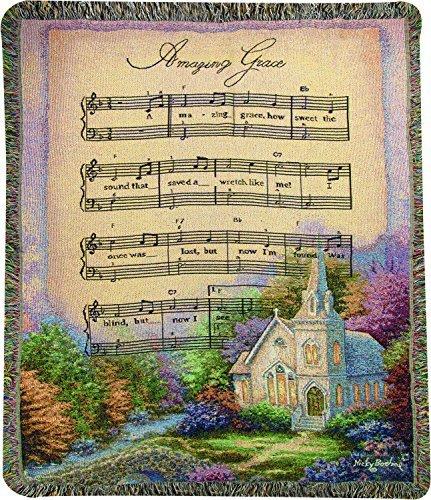 Manueller Tapisserieüberwurf, Nicky Boehme Kirche im Land/Amazing Grace, 50 x 60 cm