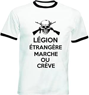 Ringspun Cotton T Shirt by Military Online French Foreign Legio L/égion /Étrang/ère Embroidered Logo