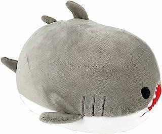 Ganeed Shark Stuffed Animals Plush Toy,Nano Foam Particles Plush Toy,Gray,8 Inch,1 Piece