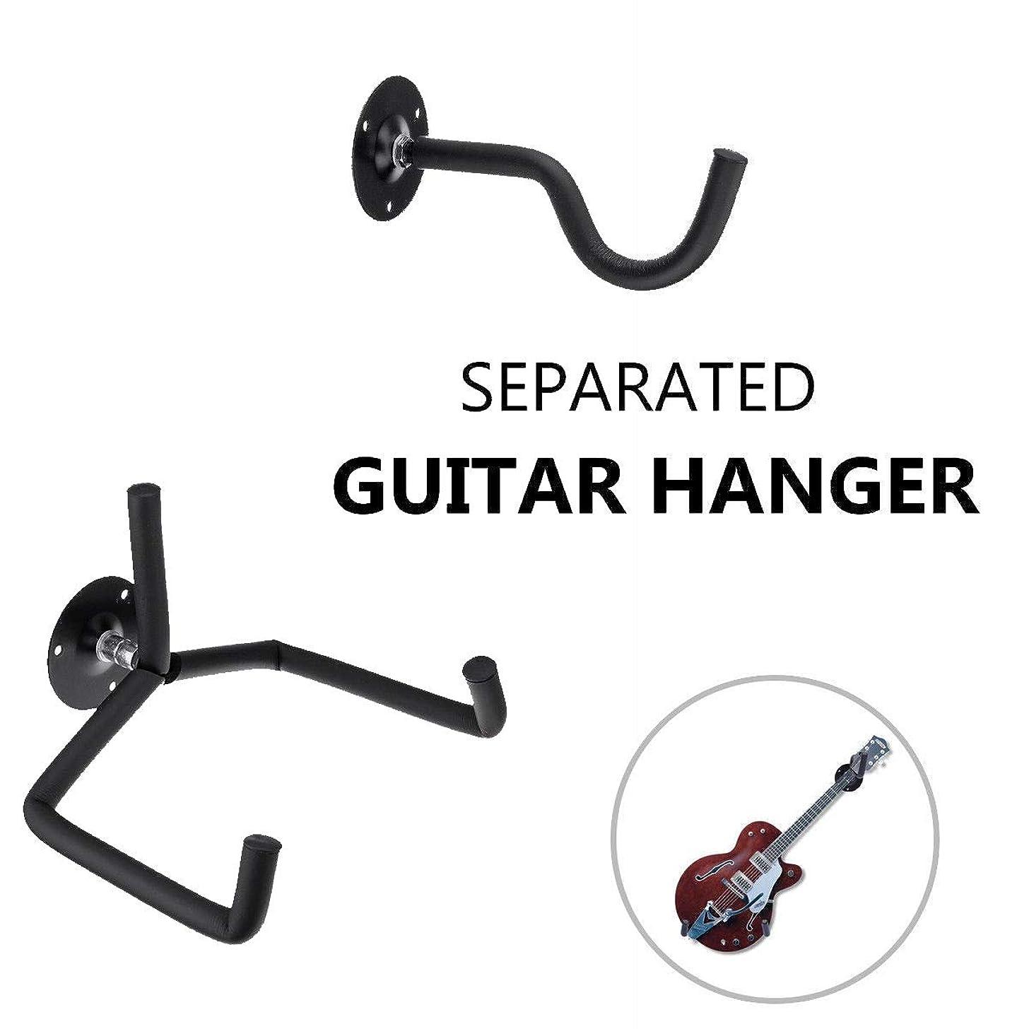 Bewox Guitar Display Hanger Holder Wall Mount Hook For Horizontal Guitars,Banjos, Basses, Mandolins