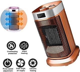 Portátil Ventilador Calefactor, Ventilador del Calentador Eléctrico con 2 Configuraciones De Temperatura (900W / 1800W), De Vuelco Y Protección del Sobrecalentamiento, para Hogar, Oficina,Naranja
