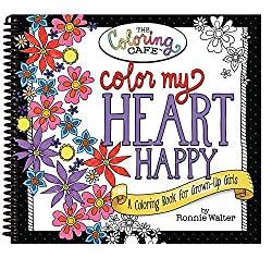 Color My Heart Happy Coloring Books For Seniors