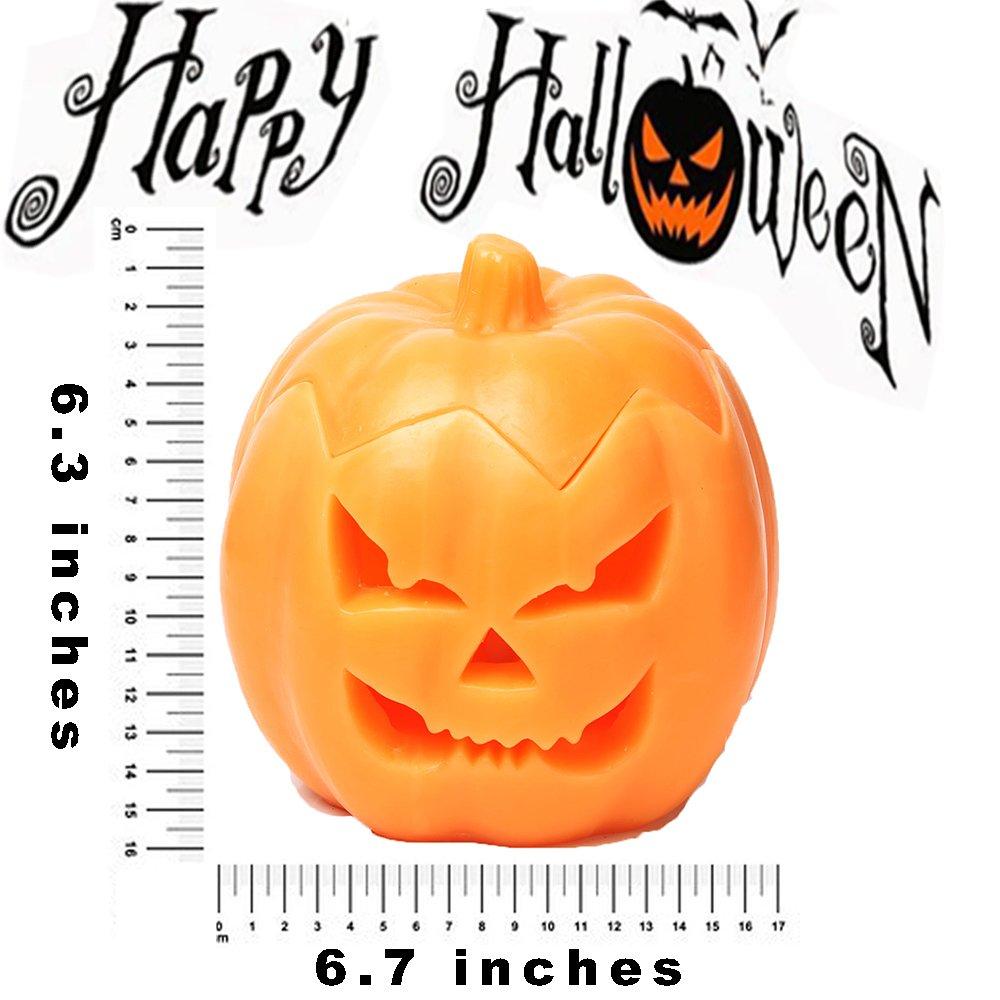 Jack O Lantern Halloween Pumpkin Decor Lantern with Battery Operated /& Adjustable Timer Function for Halloween Decorations by HANPURE Pumpkin Orange