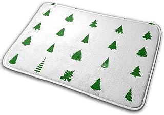 BLSYP Silueta de árbol de Navidad Imagen Vectorial Puerta Alfombrilla Alfombrilla Alfombrilla de Entrada Antideslizante Al...