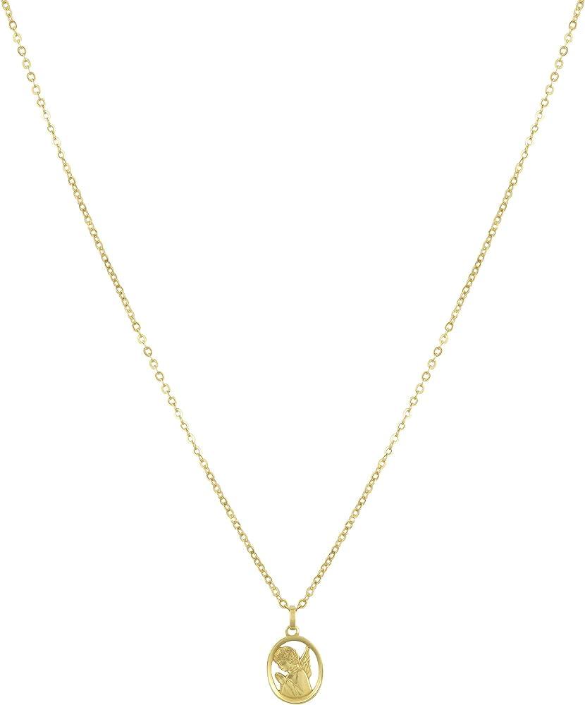 Stroili - collana unisex con pendente angelo in oro giallo 9 kt/375 1409506