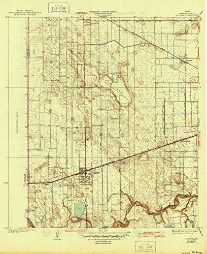 YellowMaps La Feria TX topo map, 1:31680 Scale, 7.5 X 7.5 Minute, Historical, 1936, Updated 1945, 20.8 x 17 in - Paper