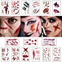 Moomkey Halloween Temporary Scar Realistic Tattoo Stickers