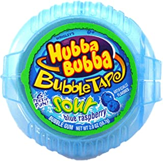 Hubba Bubba Sour Blue Raspberry Bubble Tape 56.7g American US Candy Gum