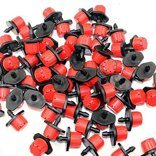 Gunsamg 25/50/100/200 Pcs Adjustable Irrigation Drippers Sprinklers Emitter Drip System on 1/4'' Barb (50)