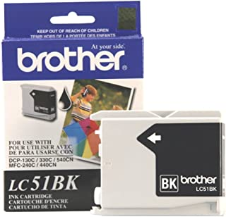 Brother Innobella LC51BK Ink Cartridge, 500 Page Yield, Black