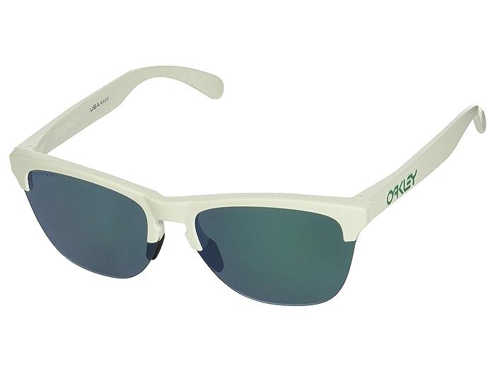 Oakley Frogskins Lite (Matte White/Prizm Jade) Sport Sunglasses