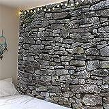 Wandteppich im Vintage-Stil, Steingrau, Hippie-/Boho-Stil, europäischer Wandteppich, mittelalterliche Tapete, Tagesdecke (Farbe: 1, Größe: 200 x 150 cm)