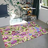 Carpet Studio Alfombra Carretera 140x200cm, Alfombra Infantil para Dormitorio & Cuarto de Jugar, Lavable a Máquina, Fácil de Limpiar, Anti-Deslizante - Sweet Town