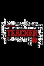 Teacher: Wellness Notebook - Self Care Journal - Positive Affirmation Log for Educators