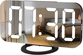 ICECUUL Digital Wall Clock,Bedside Clock with 6.5 Inch Large Number Dual USB Charger Ports Snooze Model Dimming Auto/Custo...