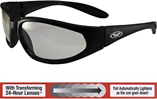 Global Vision Hercules Safety Sunglasses Black Frames with 24 Hour Photochromic Clear to Smoke Lenses ANSI Z87.1+