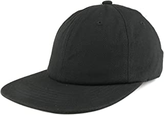 Low Profile Plain Unstructured Crown Flatbill Snapback Cap