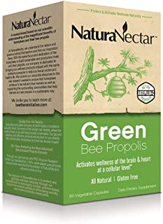 NaturaNectar Natural Green Bee Propolis – Nootropic Brain Supplement – Focus, Memory & Immune Support- Ultra Pure Flavonoi...