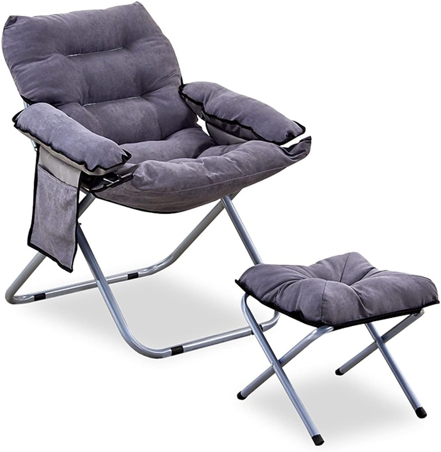 Recliners Chairs Tatami Lazy Sofa Removable Computer Sofa Lazy Chair That can be Folded in Living Room Dormitory Household Stool Home Chair Easy to Carry Sofa (with a Small Stool)