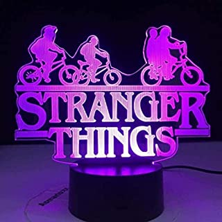GEZHF LED 3D Night Light Stranger Things Web Television Series Led Colorful Transformation Changing Touch Sensor Bedroom Light Table Lamp Gift
