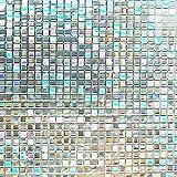 Housolution 3D Pegatinas de Ventana,Adhesivo con Electricida Estática Pegatina Privacidad de Ventana del PVC para Cristal Pelicula Decorativa Electrostática para Ventana Anti-UV,Pequeño Mosaico