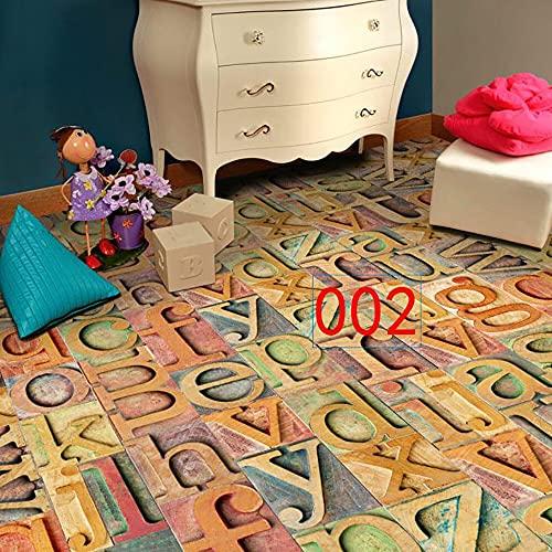 Yubingqin 1 PC 20x50cm Azulejo Adhesivo Arte Art Suelo Vinilo Calcomanía DIY Cocina Cuarto de baño Decoración Tile Etiqueta Moderno Estilo Moderno (Color : B)
