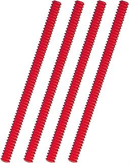 درع حامل الفرن، 4 قطع من السيليكون الرف الحامي لرف الفرن المقاوم للحرارة لحماية ملحقات أواني الطهي تحمي من الحرق والندوب