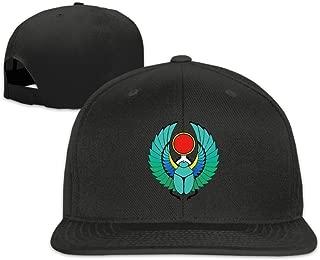Unisex Egyptian Scarab Tattoo Colour Flat Ajustable Snapback Cap Black