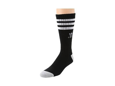adidas Original Roller Crew Sock 1-Pair Pack Black/White/Heather Aluminum Running Socks 8164801