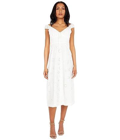 WAYF Off Shoulder Midi Dress