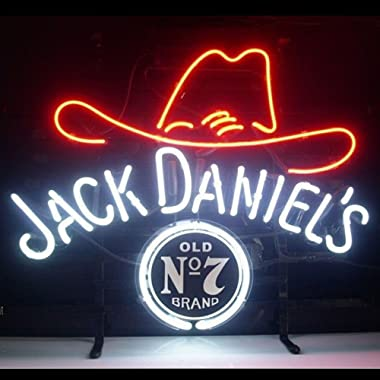 GreeneerG 17 x14 Jack Daniel's Neon Sign Light Real Glass Tube Beer Bar Pub Wall Poster LED