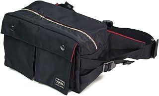 ポーター エルファイン 【PORTER L-fine】 PORTER×ILS共同企画 ウエストバッグ L(ラージ) Waist Bag Large 【LYD383-06695】 ブラック 裏地=レッド Black Backing=Red