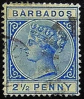 victoria half penny stamp