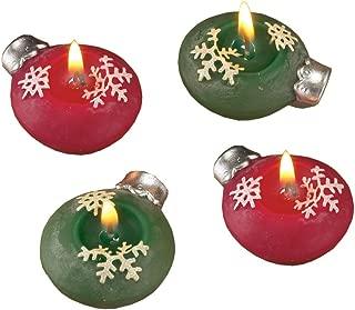 Biedermann Ornament Snowflake Floating Candles, 2-3/4-Inch Diameter, Box of 4