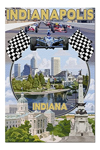 Indianapolis, Indiana - Montage Scenes 40931 (19x27 Premium 1000 Piece Jigsaw Puzzle for Adults, Made in USA!)