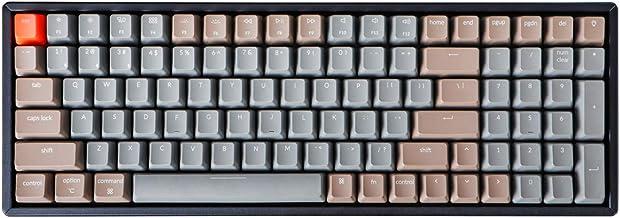 Keychron K4 Bluetooth Wireless Mechanical Keyboard RGB LED Backlit, Compact 100 Keys USB Wired Computer Gaming Keyboard Al...